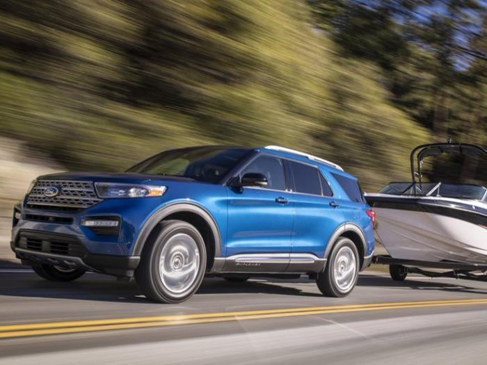 This photo provided by Ford shows the 2020 Ford Explorer with a maximum towing capacity of 5,600 pounds