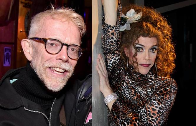Matthew Simmons (photo: Gooch) and as Peggy L'Eggs (Ed Wolf)