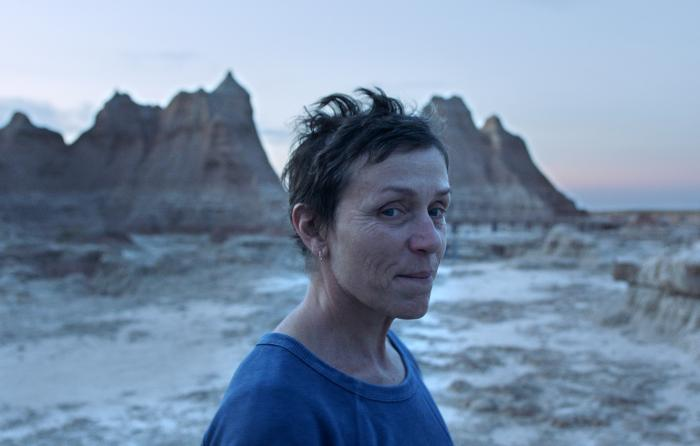 "Frances McDormand in a scene from the film ""Nomadland"" by Chloe Zhao."