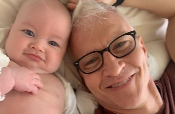 Anderson Cooper and his son Wyatt.