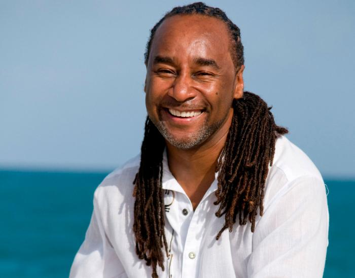 This undated image released by Joseph Jones shows author Eric Jerome Dickey in Antigua