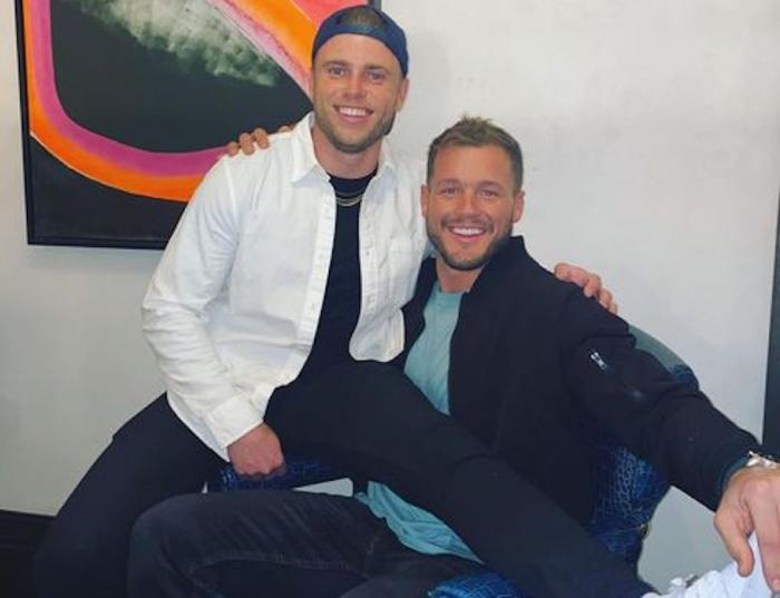 Gus Kenworthy, left, with Colton Underwood, right.