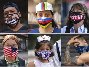 Faces Meet Fashion in New Yorkers' Mask Choices